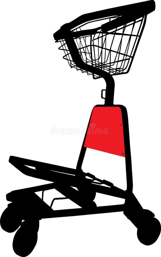 Het karretje van de luchthaven vector illustratie