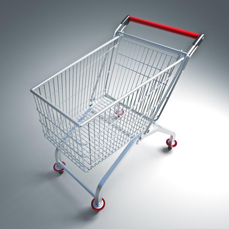 Het karretje van de supermarkt royalty-vrije illustratie