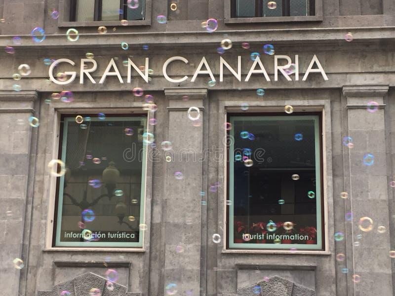 Het kartel van Gran Canaria stock foto