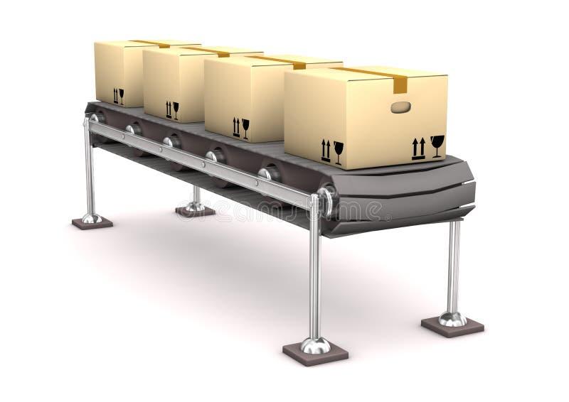 Het Karton van de lijn stock illustratie