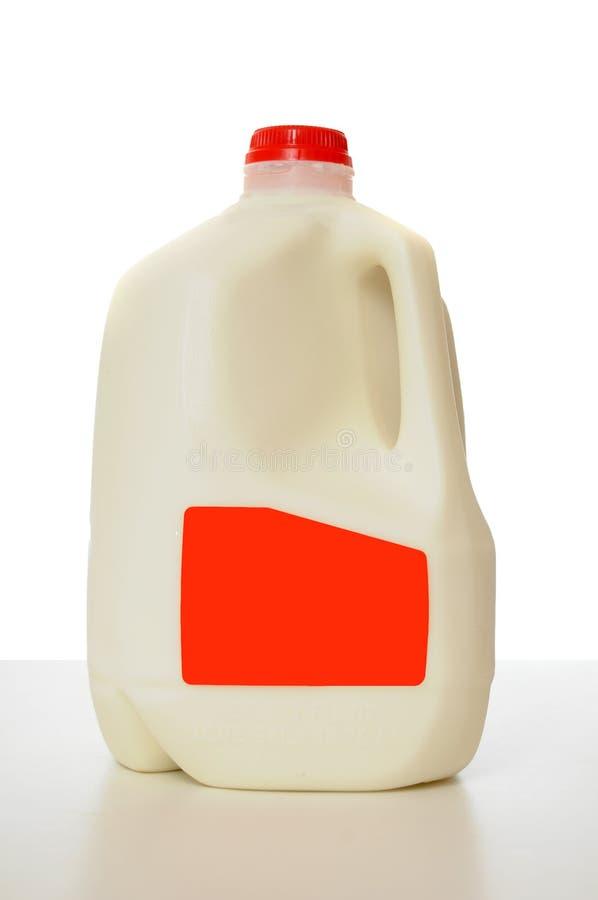 Het Karton van de Melk van de gallon stock fotografie