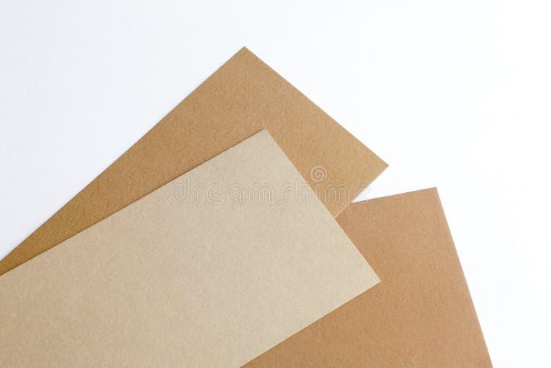 Het karton van de ontwerper op een witte achtergrond royalty-vrije stock fotografie