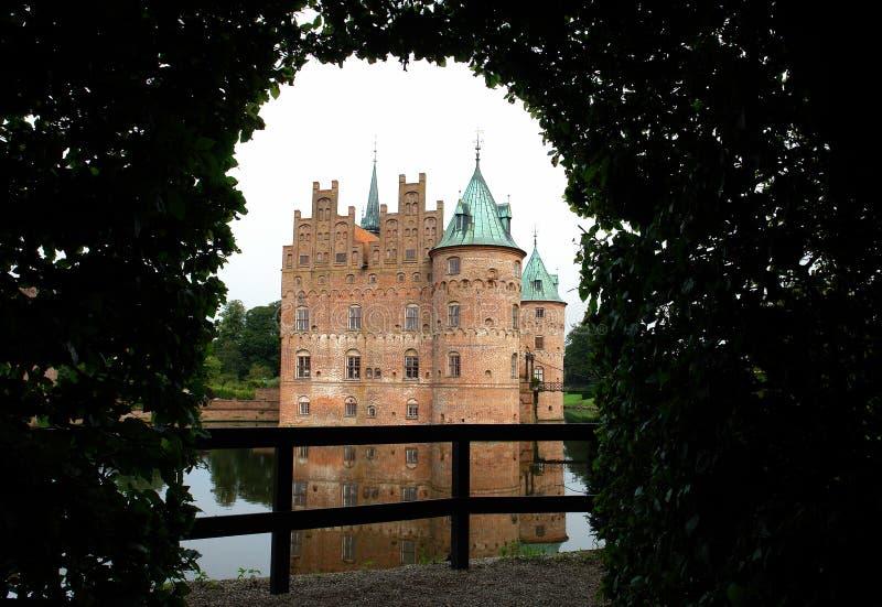 Het kasteel Denemarken van Egeskov royalty-vrije stock foto