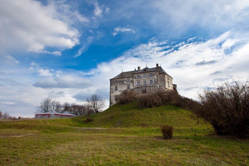 Het kasteel dichtbij Lvov, de westelijke Oekraïne royalty-vrije stock foto's
