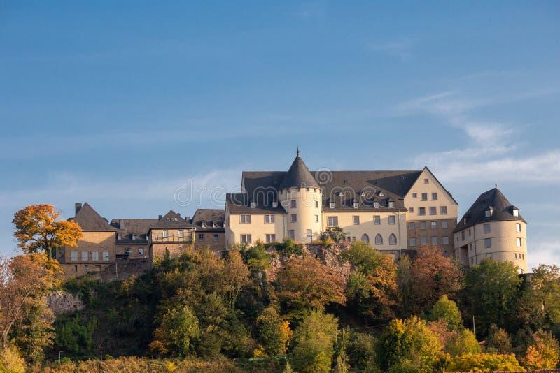 Het kasteel Ebernburg in Duitsland stock foto