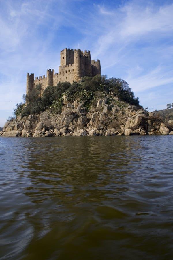 Het Kasteel en de rivier van Almourol stock fotografie