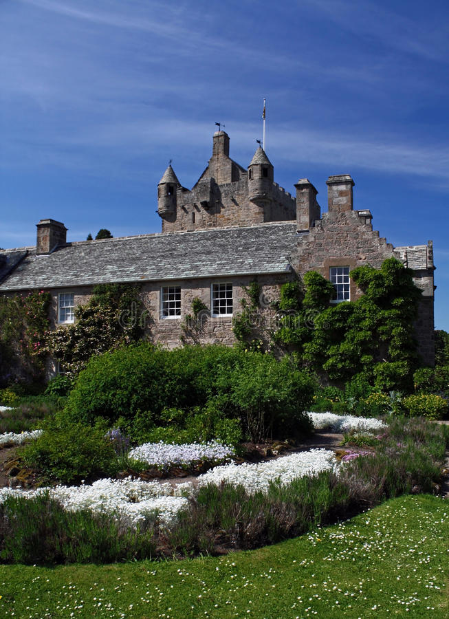 Het Kasteel en de Tuin van Cowdar royalty-vrije stock foto's