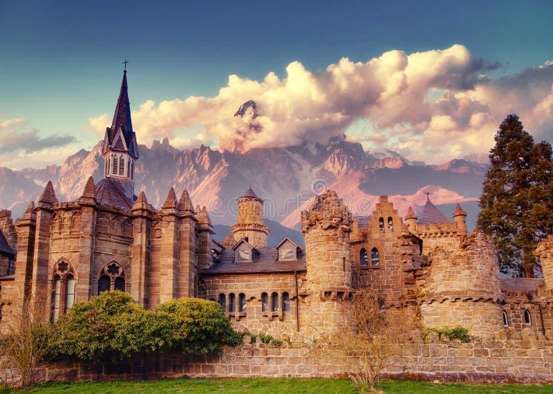 Het kasteel Fantastische meningen de schoonheid van de wereld duitsland stock foto's