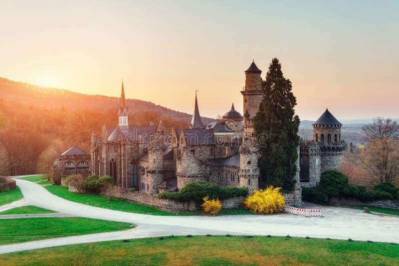 Het kasteel Fantastische meningen de schoonheid van de wereld duitsland stock fotografie