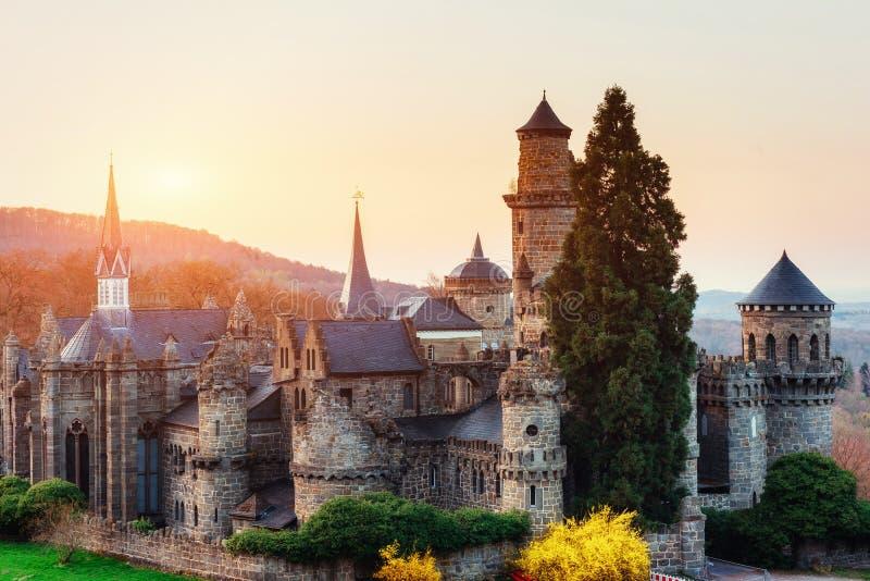 Het kasteel Fantastische meningen de schoonheid van de wereld duitsland royalty-vrije stock fotografie