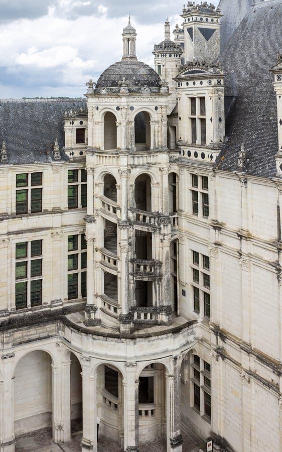 Het Kasteel Frankrijk van Chambord stock afbeelding