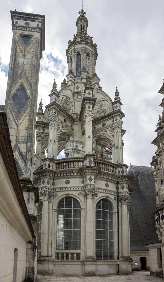 Het Kasteel Frankrijk van Chambord stock foto