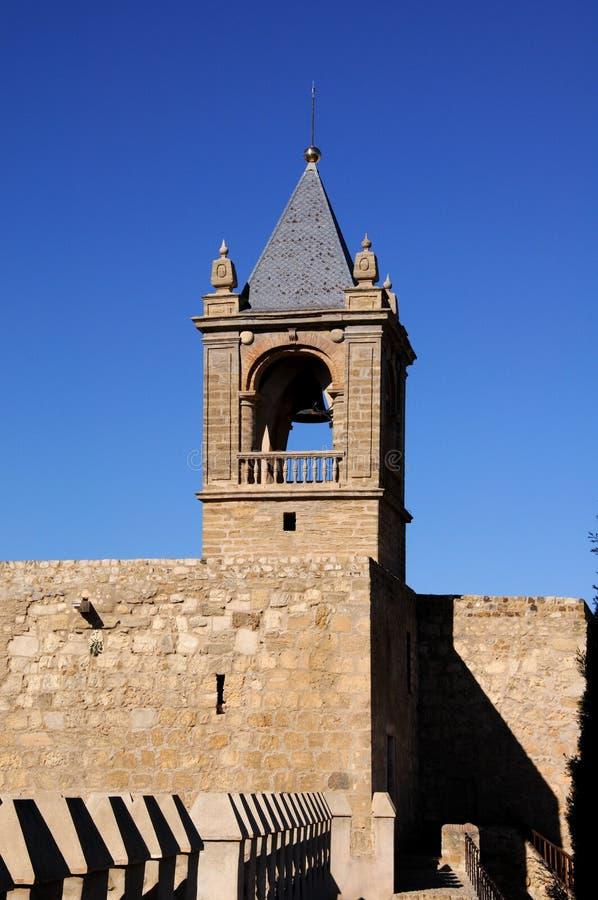 Het kasteel houdt, Antequera, Andalusia, Spanje. royalty-vrije stock afbeelding