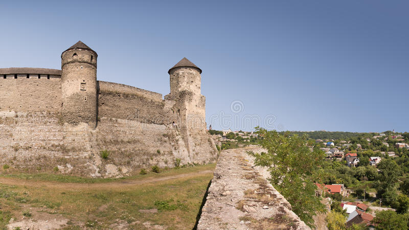 Het kasteel Kamenetz-Podolsk, de Oekraïne royalty-vrije stock fotografie