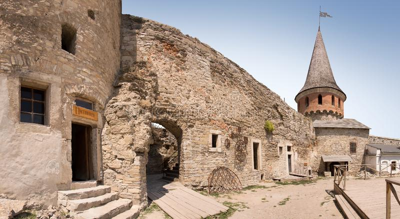 Het kasteel Kamenetz-Podolsk, de Oekra?ne stock afbeelding