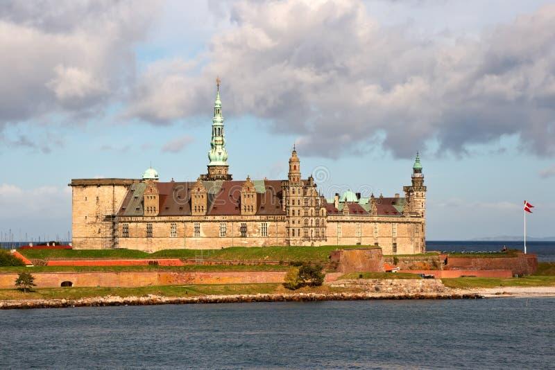 Het kasteel Kronborg. Denemarken stock afbeelding