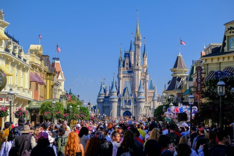 Het kasteel in het Magische Koninkrijk van Disney World royalty-vrije stock afbeelding