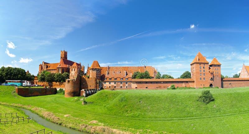 Het kasteel Malbork stock fotografie