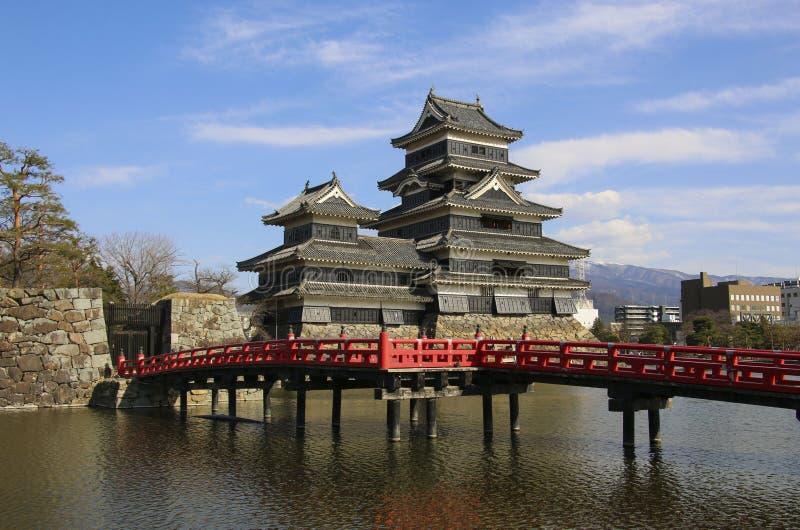 Het Kasteel Matsumoto-PB van Matsumoto in de Stad van Matsumoto, de Prefectuur van Nagano, Japan stock foto