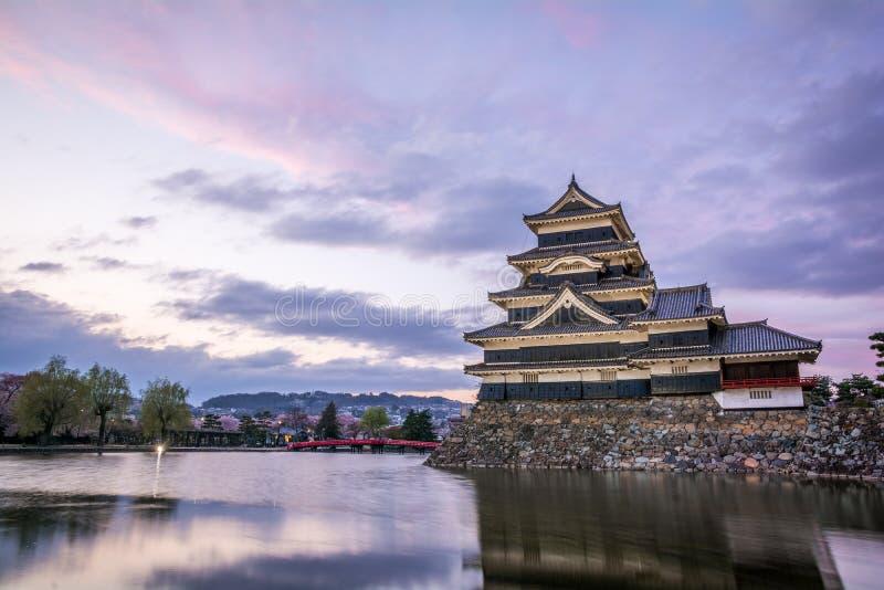 Het Kasteel Matsumoto-PB van Matsumoto, Japanse eerste historische kastelen in easthern Honshu, Matsumoto-Shi, Chubu-gebied, Naga royalty-vrije stock afbeelding
