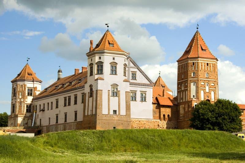 Het kasteel in Mir stock foto