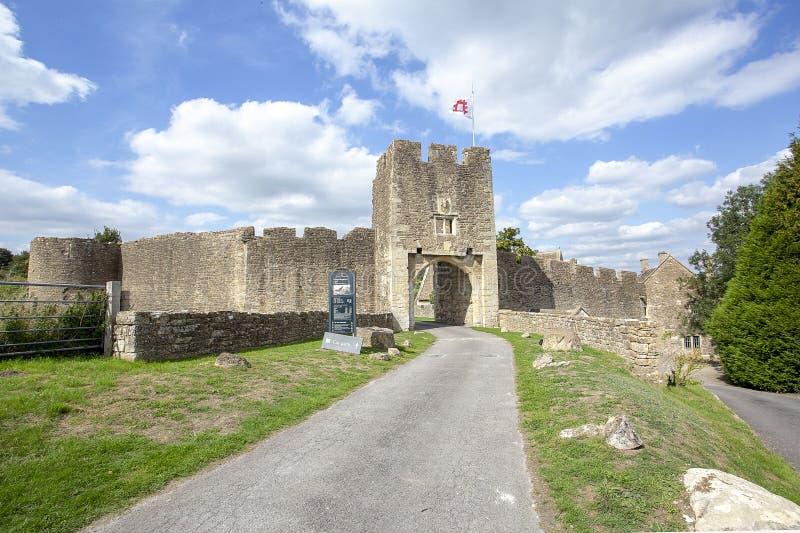 Het Kasteel Oostelijke Gatehouse van Farleighhungerford stock foto