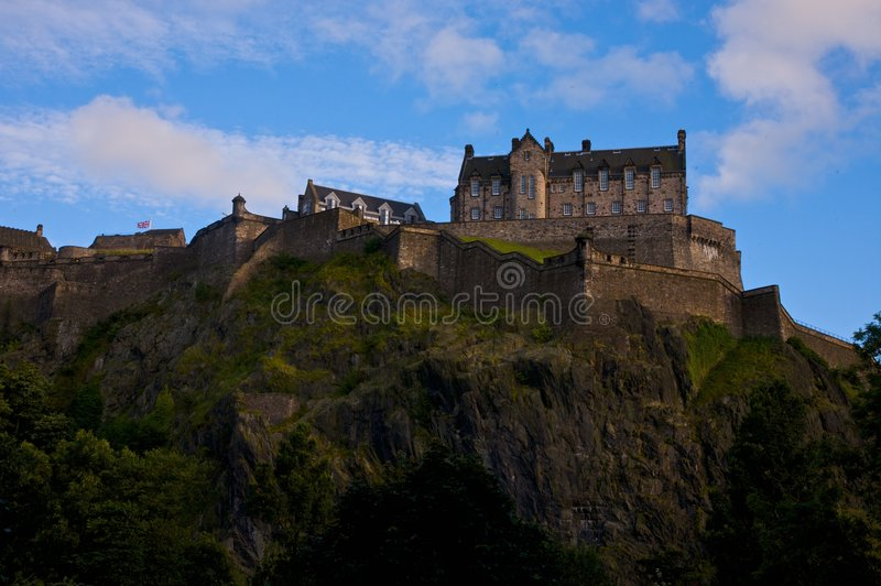 Het Kasteel Schotland van Edinburgh royalty-vrije stock afbeeldingen