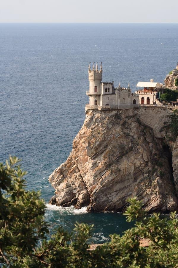 Het kasteel slikte Nest stock foto