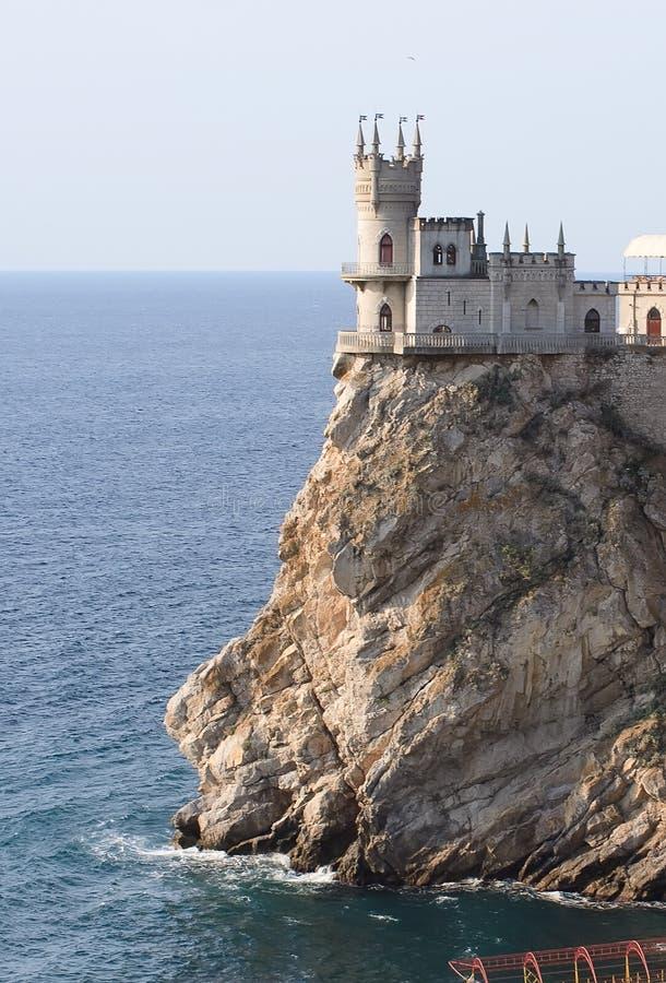 Het kasteel slikte Nest stock afbeelding