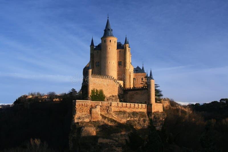 Het kasteel van Alcazar in Segovia, Spanje royalty-vrije stock foto's