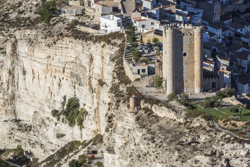 Het kasteel van Almohad-oorsprong van eeuw XII, neemt in Alcala van t royalty-vrije stock fotografie