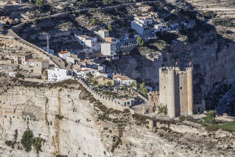 Het kasteel van Almohad-oorsprong van eeuw XII, neemt in Alcala van t royalty-vrije stock afbeelding