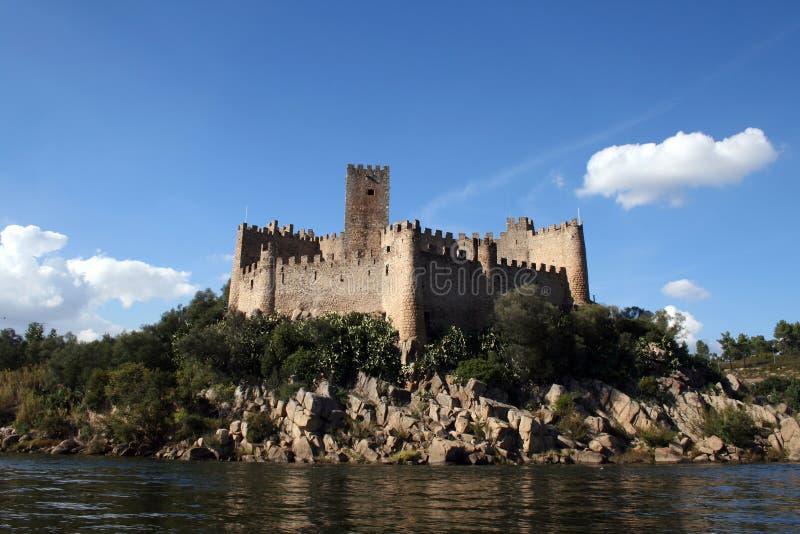 Het kasteel van Almourol stock fotografie