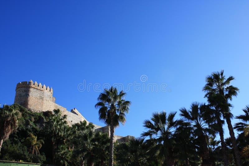 Het Kasteel van Almuñecar (Granada, Spanje) royalty-vrije stock foto's