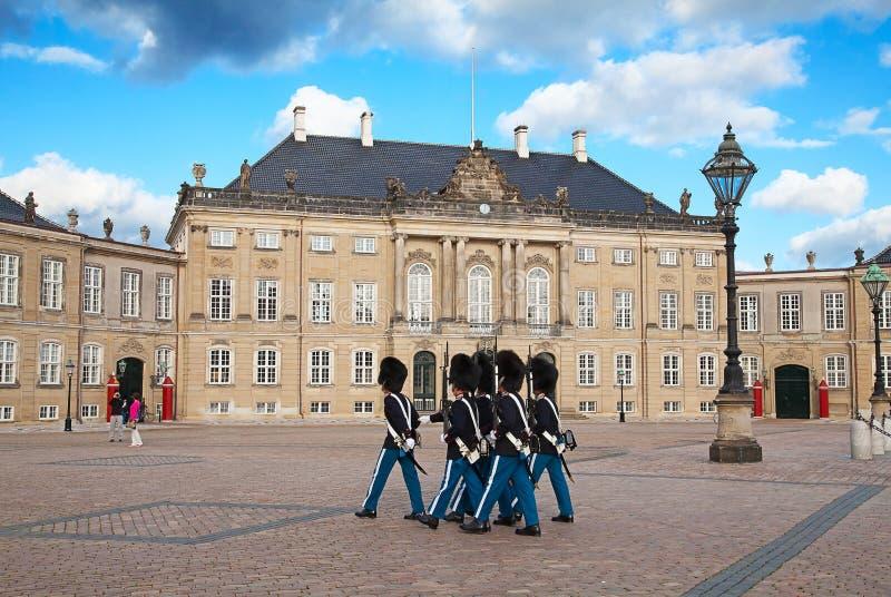 Het kasteel van Amalienborg stock foto's