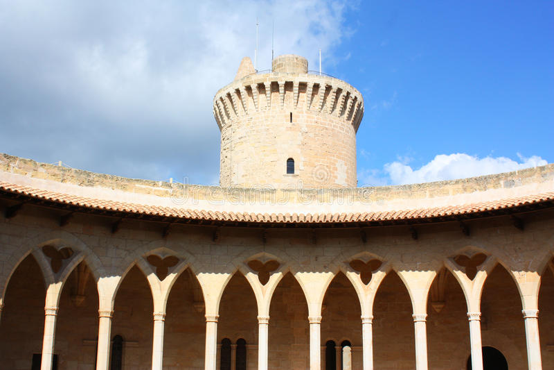 Het kasteel van Bellver royalty-vrije stock foto