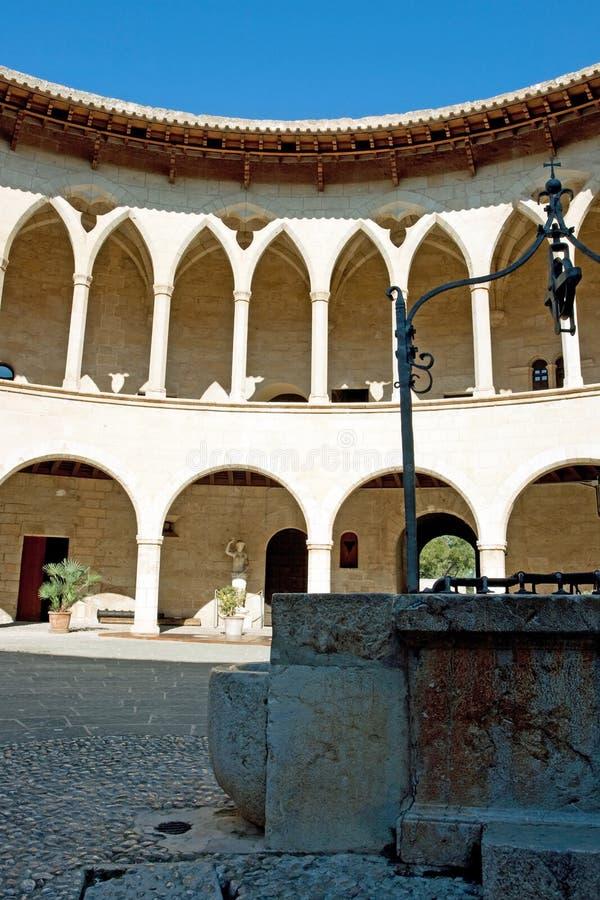 Het kasteel van Bellver royalty-vrije stock afbeeldingen