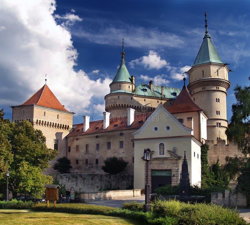 Het kasteel van Bojnice - Ingang royalty-vrije stock foto's