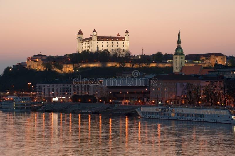 Het kasteel van Bratislava, Slowakije royalty-vrije stock afbeelding