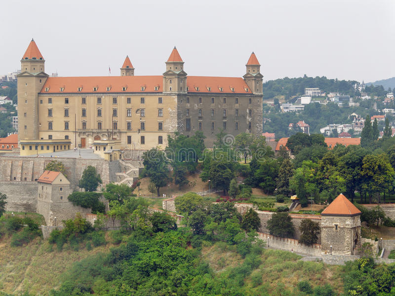 Het Kasteel van Bratislava vóór wederopbouw royalty-vrije stock afbeelding
