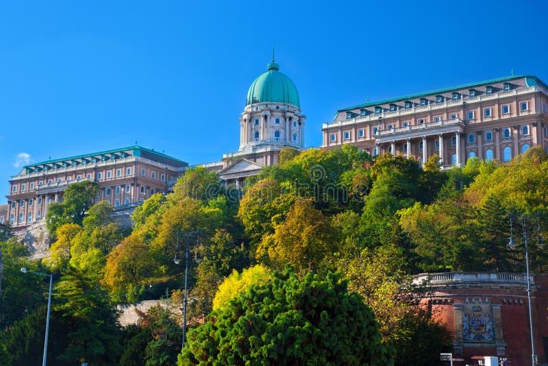Het Kasteel van Buda in Boedapest, Hongarije royalty-vrije stock afbeelding