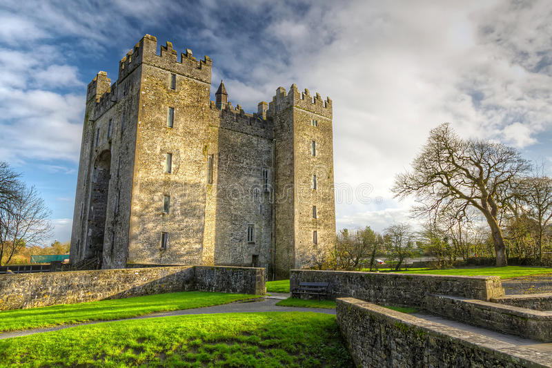 Het kasteel van Bunratty in Co. Clare royalty-vrije stock afbeelding
