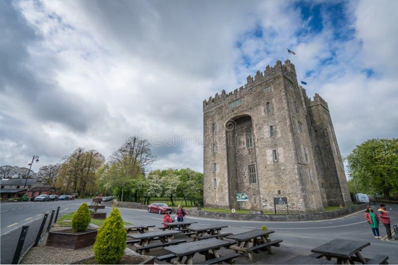 Het kasteel van Bunratty in Ierland stock foto