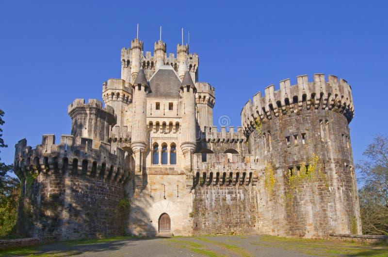 Het Kasteel van Butrón is een middeleeuws gebouw, Euskadi stock foto's
