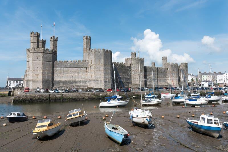 Het Kasteel van Caernarfon stock foto
