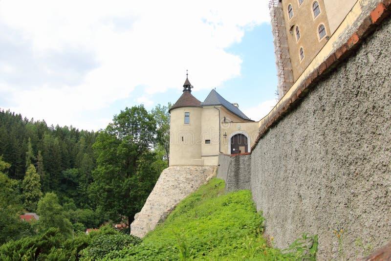 Het Kasteel van Ceskysternberk, Czechia royalty-vrije stock foto