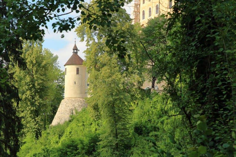 Het Kasteel van Ceskysternberk, Czechia stock afbeeldingen