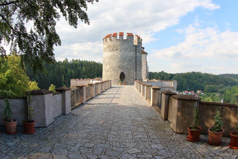 Het Kasteel van Ceskysternberk, Czechia royalty-vrije stock afbeeldingen