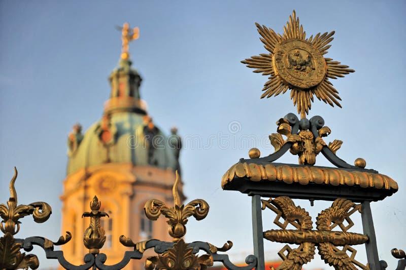Het Kasteel van Charlottenburg van Schloss   stock foto's