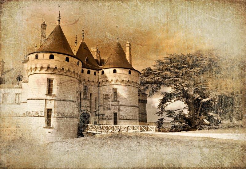 Het kasteel van Chaumont royalty-vrije illustratie